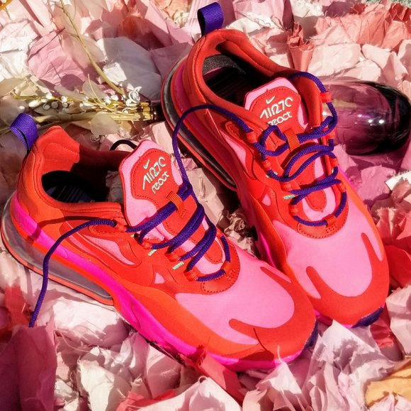 Nike Shoes Air Max 270 React Electronic Music Mystic Red Poshmark